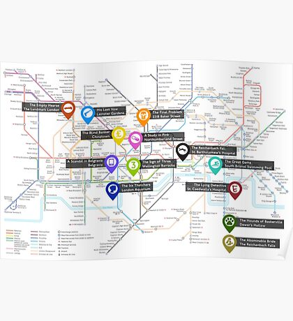 Sherlock Tube Map Poster