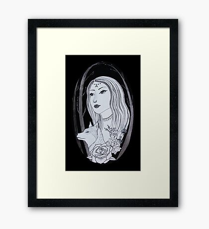 The Girl and The Wolf Framed Print