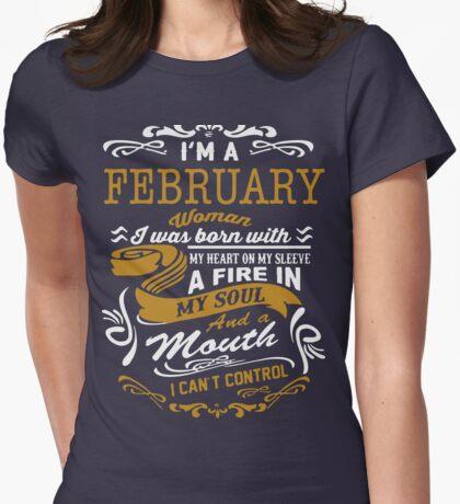 I'm an February women Womens Fitted T-Shirt