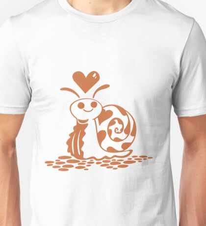 Valentine Snail with Heart Unisex T-Shirt
