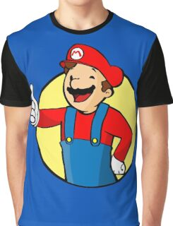 Vault Boy Super Mario Graphic T-Shirt