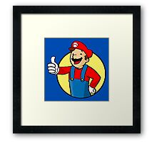 Vault Boy Super Mario Framed Print