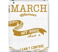 I'm a March women iPad Case/Skin