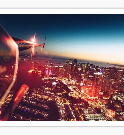 miami night view from helicopter Sticker