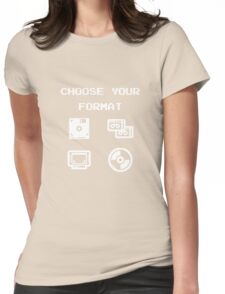 Gaming: Choose Your Format Old-School Storing Devices  Womens Fitted T-Shirt
