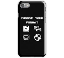 Gaming: Choose Your Format Old-School Storing Devices  iPhone Case/Skin