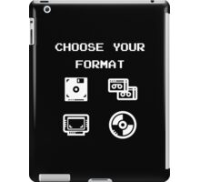 Gaming: Choose Your Format Old-School Storing Devices  iPad Case/Skin