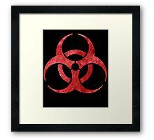 Red Biohazard Symbol Framed Print