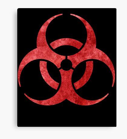 Red Biohazard Symbol Canvas Print