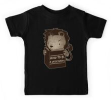 Lion Book How To Be Vegetarian Kids Tee