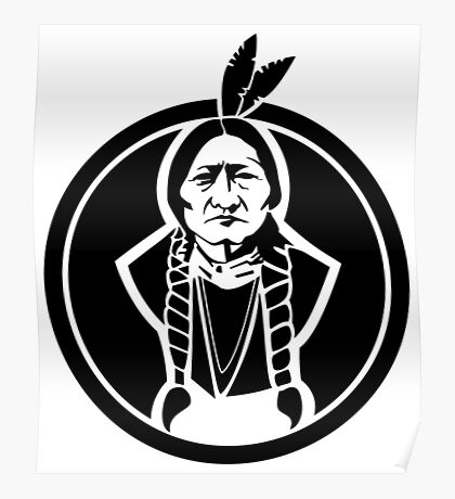 Sitting Bull Native American Poster