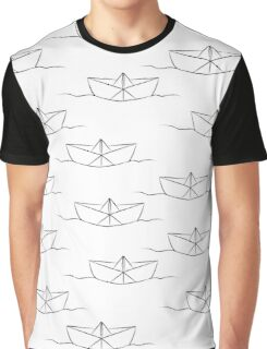 Paper ship Graphic T-Shirt