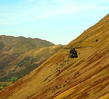 Helicopter in Kirkstone Pass. by Billlee