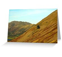 Helicopter in Kirkstone Pass. Greeting Card