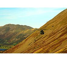 Helicopter in Kirkstone Pass. Photographic Print