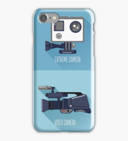 Modern Technologies. Professional Photo and Video Camera, Extreme Camera and Smart Phone.  iPhone Case/Skin