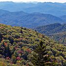 View From Along The Blue Ridge Parkway - North Carolina by Rebel Kreklow
