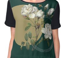 Winter Blooms Chiffon Top