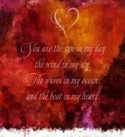 The Beat in My Heart Sticker