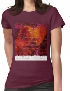 The Beat in My Heart Womens Fitted T-Shirt