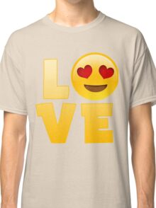 Happy Hearts Eyes and Smiley Love Emoji Classic T-Shirt