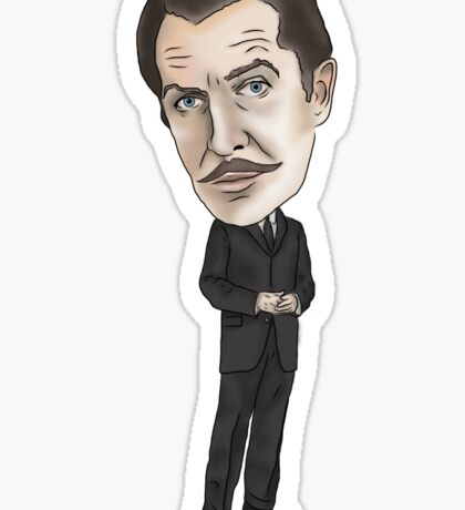 Vincent Price Inspired Horror Illustration  Sticker
