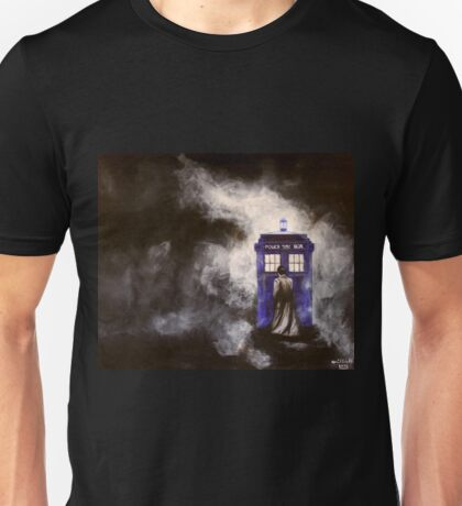 The Doctor and his Tardis in the Mist Unisex T-Shirt