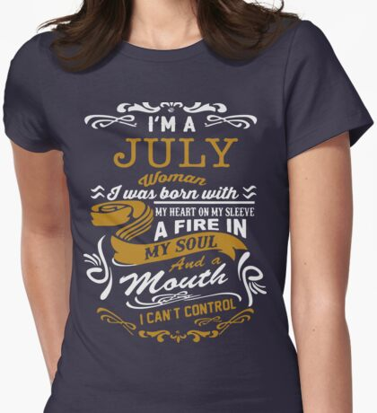 I'm a July women Womens Fitted T-Shirt