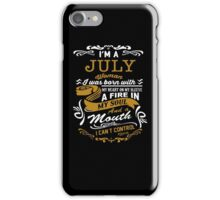 I'm a July women iPhone Case/Skin