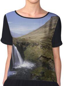 Snaefellsnes Waterfall Iceland Chiffon Top