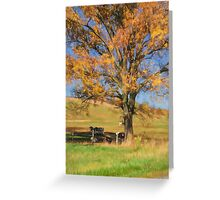 Enjoying The Autumn Shade Greeting Card
