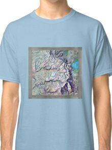 Vintage Yosemite National Park Relief Map Classic T-Shirt