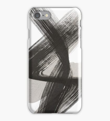 Abstract Drawing Black White iPhone Case/Skin