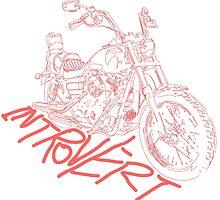 introvert's white lining bike by studiozandra