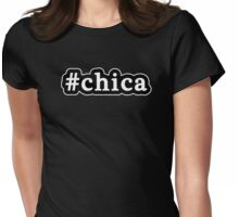 Chica - Hashtag - Black & White Womens Fitted T-Shirt