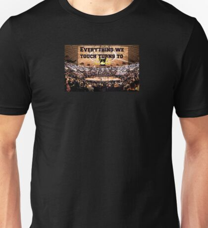 "Purdue Basketball ""Everything We Touch Turns To Gold"" Edit Unisex T-Shirt"