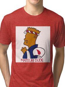 JAPANESE BART SIMPSON, MATSURI DUDE Tri-blend T-Shirt