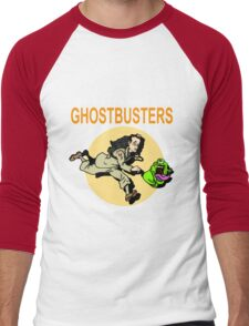 TinTin Ghostbusters Men's Baseball ¾ T-Shirt
