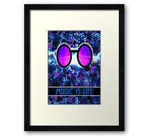 Vinyl Scratch - Music is Life Framed Print
