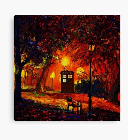 tardis starry night beauty full  Canvas Print