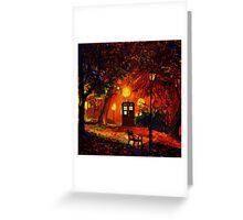 tardis starry night beauty full  Greeting Card