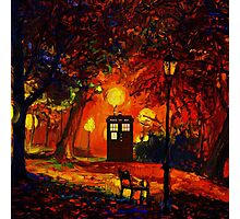 tardis starry night beauty full  Photographic Print