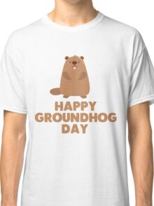 Awesome Groundhog Day Design  Classic T-Shirt