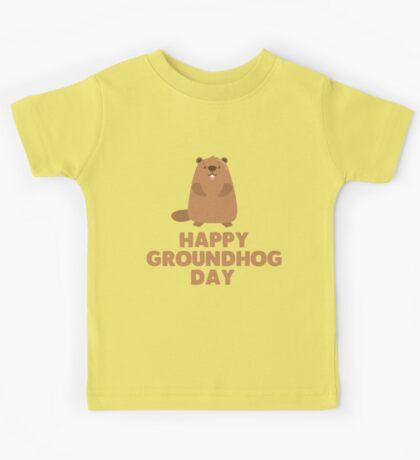 Awesome Groundhog Day Design  Kids Tee