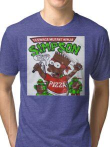 TEENAGE MUTANT NINJA SIMPSON Tri-blend T-Shirt