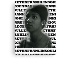 Aretha Franklin Soul Legend Canvas Print