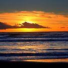 Sunset at the sea by annalisa bianchetti