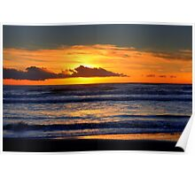 Sunset at the sea Poster