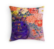 Romance II Whimsical Flowers Throw Pillow