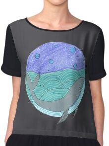 Moonlit Whale Chiffon Top